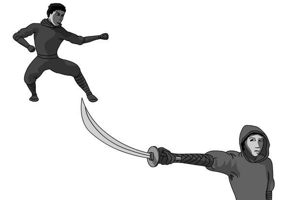 1 ninja 2 views by Pjczar