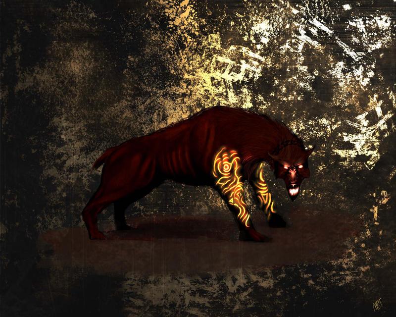 Hell hound by MarkTarrisse