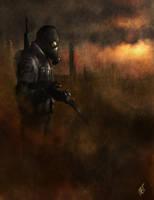 Postapocalyptical mercenary by MarkTarrisse