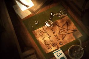 CoC : Elder Sign Parchment by MarkTarrisse