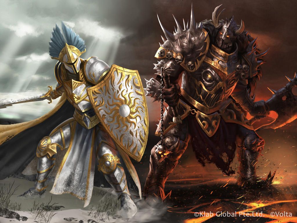 Order and Chaos Knight by MarkTarrisse