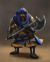 Dwarf Knight by MarkTarrisse