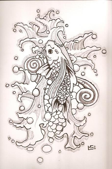 drawings koi fish