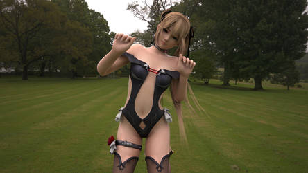 Marie rose devil kitty pose by that-damn-Hitomi-guy