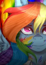 Factory Rainbow Dash : Grimdark