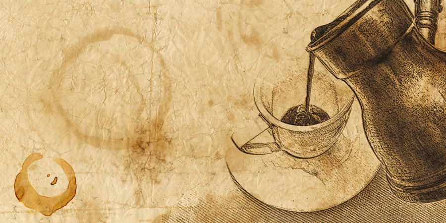 Coffee background by marafet on deviantart for Painting with coffee grounds