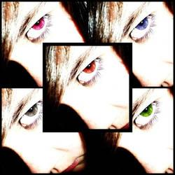 multicolored eyes by yurei-pressure