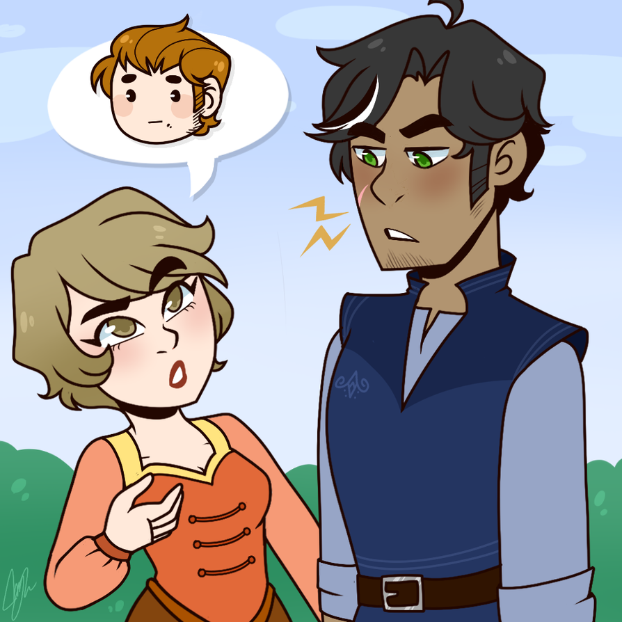 Because of him [DIALOGUE] by Sketchcee