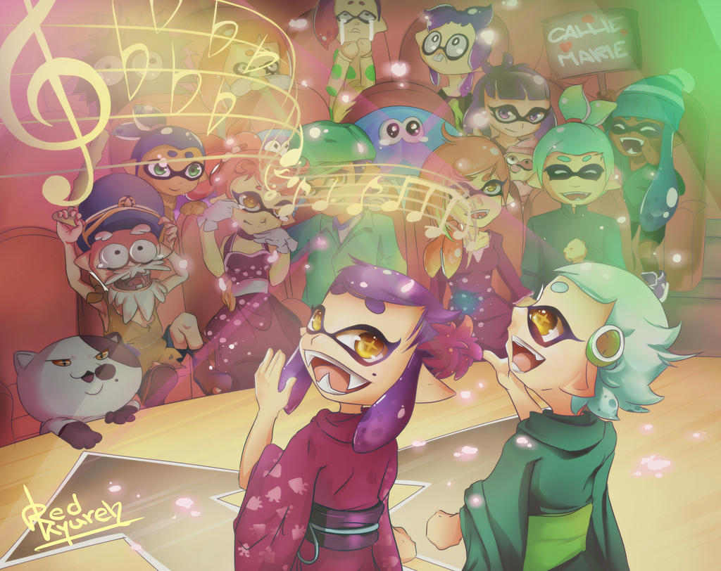 Callie And Marie Wallpaper: Callie And Marie Song Contest By RedKyuren On DeviantArt