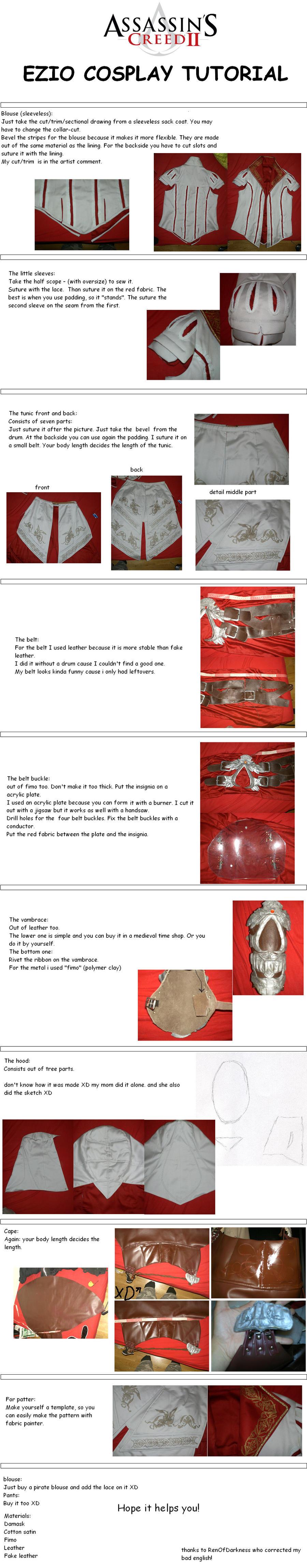 EZIO COSPLAY TUTORIAL -ENGLISH by LadyBad