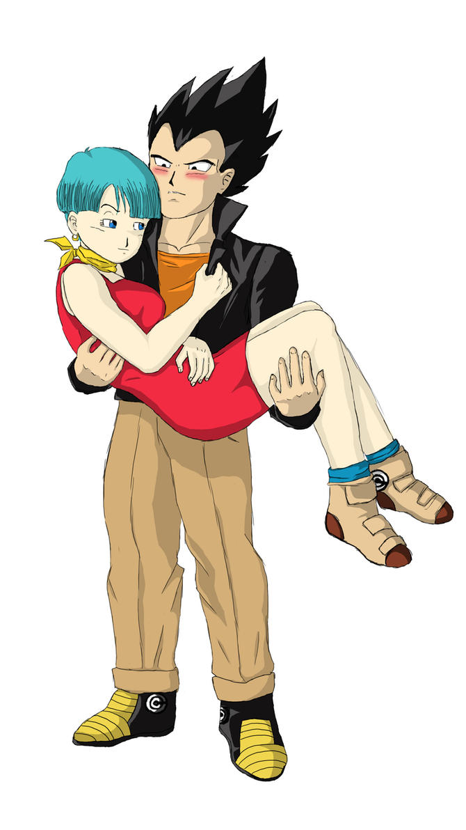 Vegeta and Bulma by LadyBad