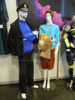 Costumes de Tintin et de Capitaine Haddock