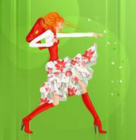 Orange Girl 2 by lanitta
