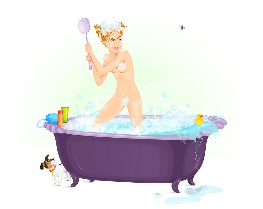 Bath Guest by lanitta