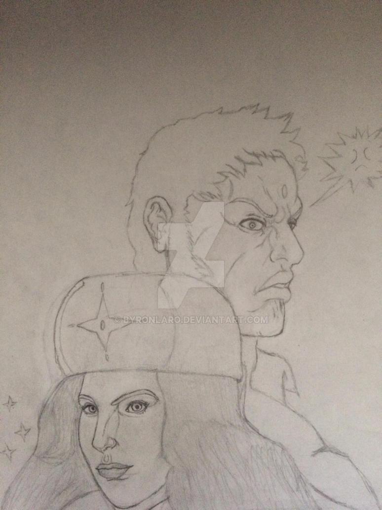 Kolin and Urien sketch (Fixed) by ByronLaro