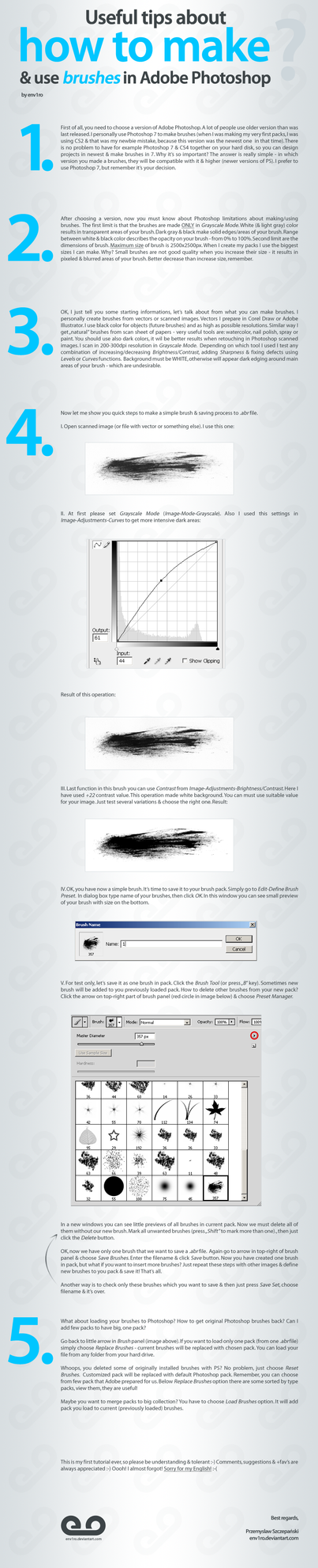 How To Use, Make Brushes in PS by env1ro