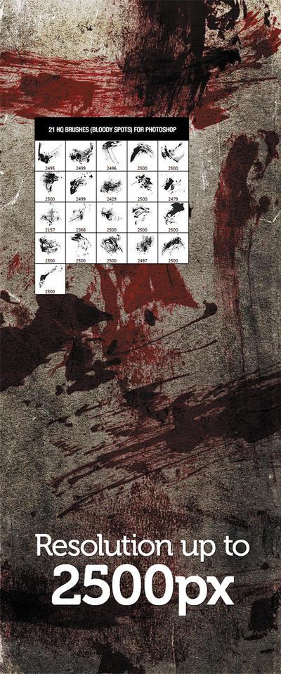 21 Bloodstain Brushes