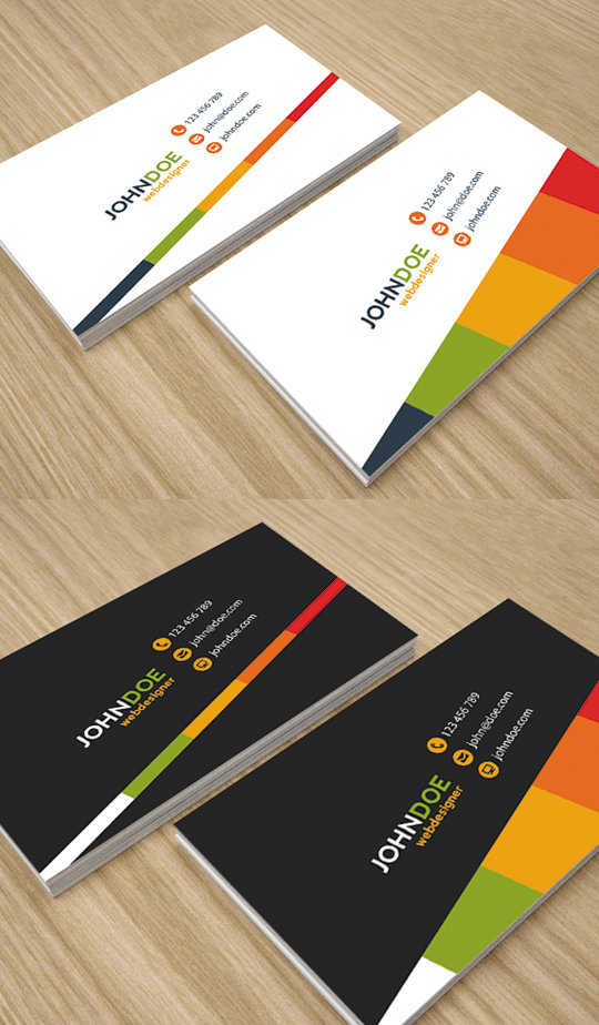 Simple and Creative Business Cards by env1ro on DeviantArt