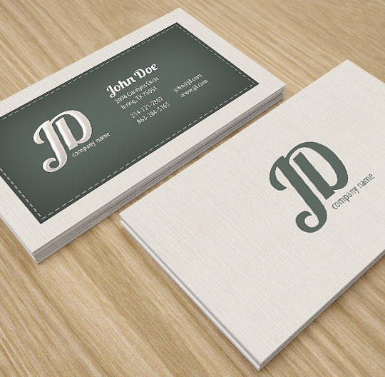 Professional Retro Business Card by env1ro on DeviantArt