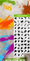 58 Paint Splashes Photoshop Brushes