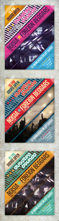 Modern Clean Party Flyers / Club Posters