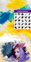 25 Artistic Paint and Watercolor Photoshop Brushes