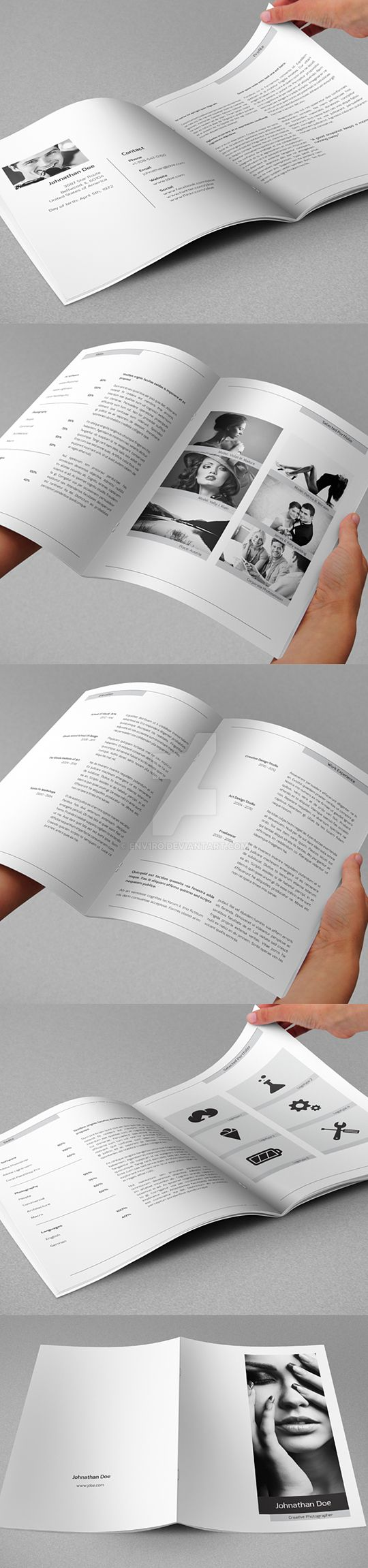 Minimal Resume Booklet and Cover Letter by env1ro on DeviantArt