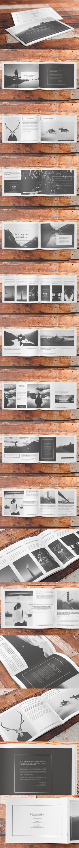Minimalfolio 6 Photography Portfolio A4 Brochure by env1ro