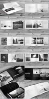 3x Minimalfolio Photography Portfolio A4 Brochures