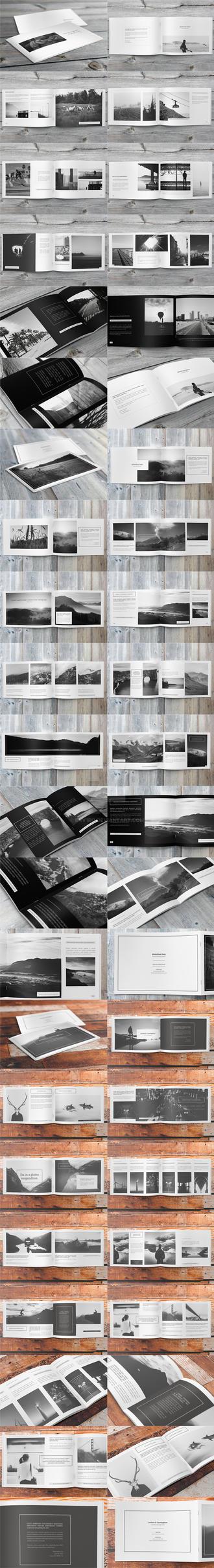 3x Minimalfolio Photography Portfolio A4 Brochures by env1ro