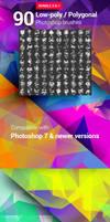 90 Polygonal / Geometrical Photoshop Brushes