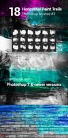 18 Horizontal Paint Trails Photoshop Brushes #3