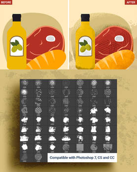58 Shader Photoshop Brushes and 15 Vector Textures