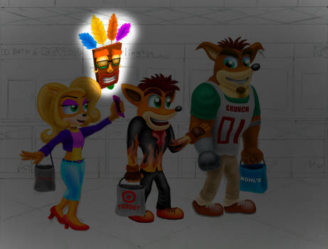 Let's Draw Bandicoots at the Mall Part 5