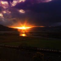 sunset express by photo-earth