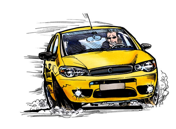 FIAT Palio 1.8R, drift, color by CRCavazos