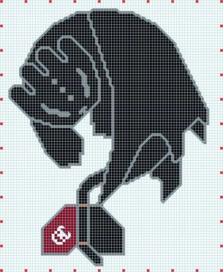 pixel art krokmou