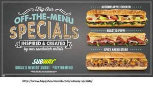Subway Specials 1