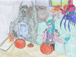 Halloween prep by WolvenMonarch
