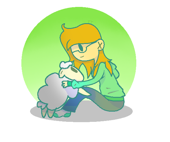 Me and sheep by emmacakes43