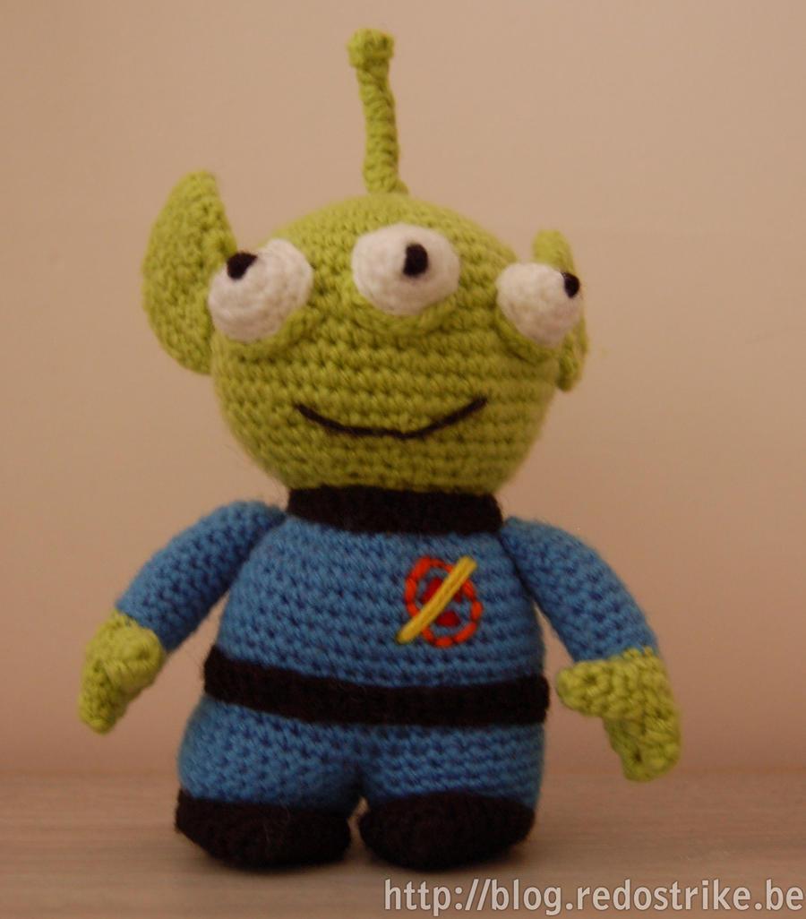 Toy Story alien amigurumi by Redostrike