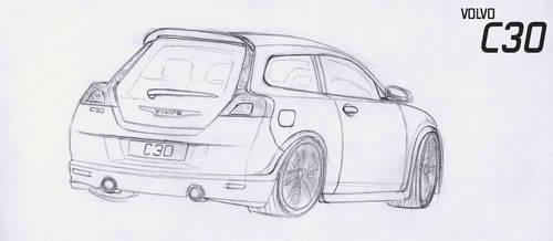 Volvo C30 T5 Drawing by revolution-1