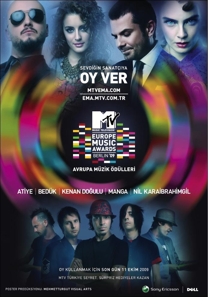 MTV ema 09 Turkey Poster II by mehmeturgut