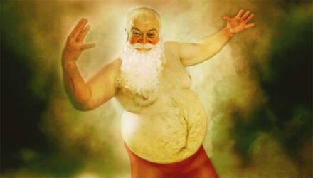 santa's painting . . .