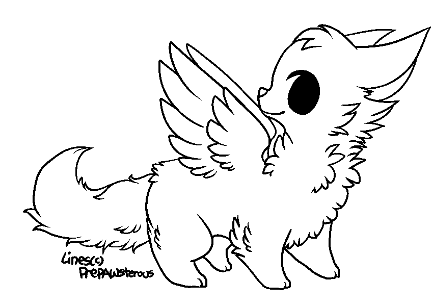 friendly wolf coloring pages - photo#49