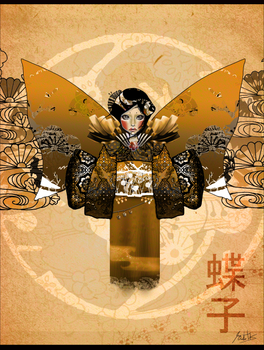 Gold Afternoon Butterfly Child