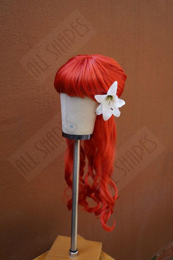 Red fantasy wig by Allshapesshowcase