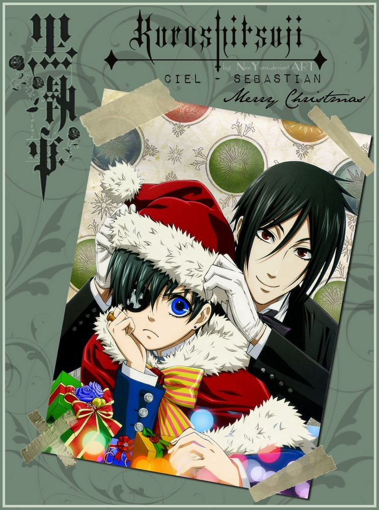 kuroshitsuji merry christmas by neeyumi on deviantart - Black Butler Christmas