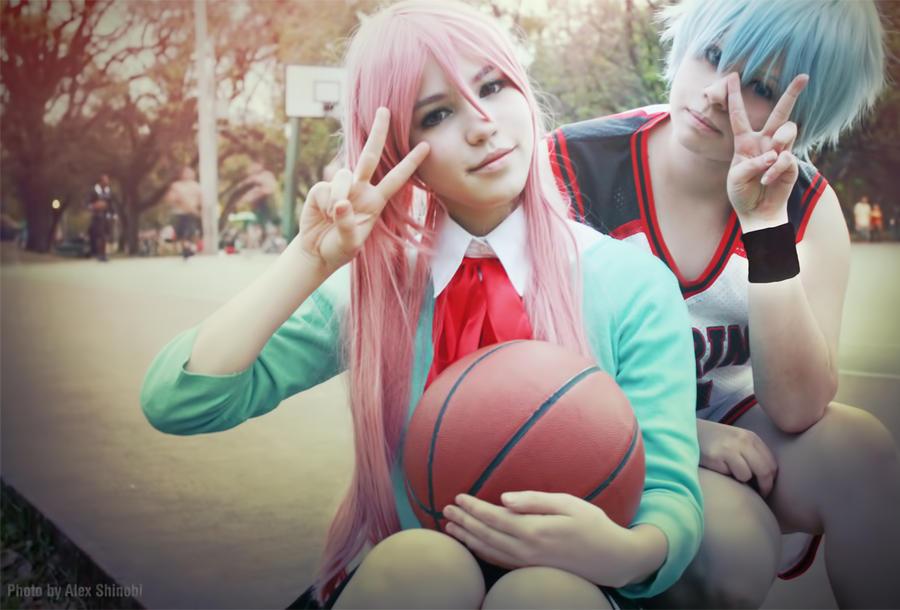 Kuroko no Basket - Kuroko x Momoi by NeeYumi