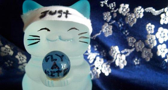 .: Blue kitty says... :.